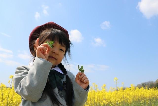 笑顔の幼稚園児