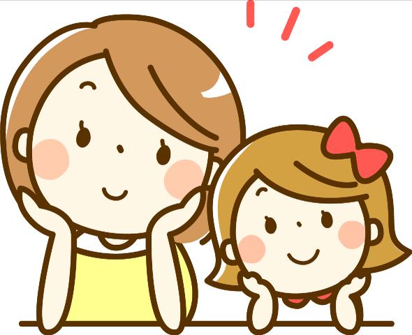 ニッコリ笑顔のママと娘